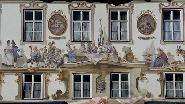 Oberammergau i delstaten Bavaria.