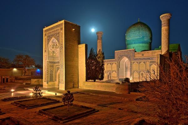 Samarkand i Uzbekistan.