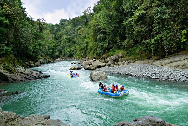 Rafting på Costa Rica.