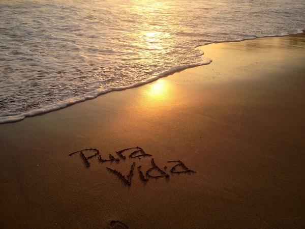 Strand i Costa Rica.