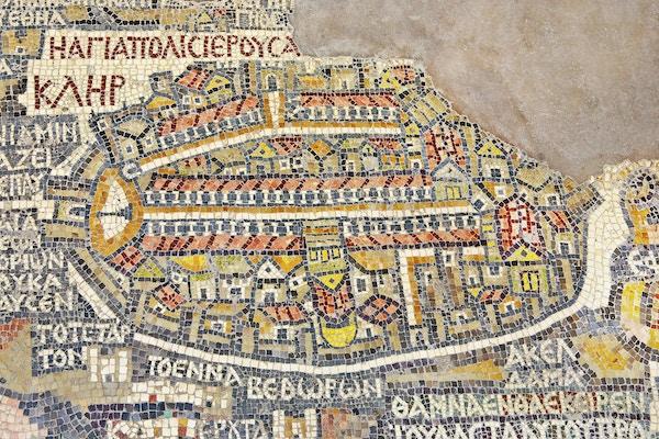 Mosaikk i Madaba, Jordan.