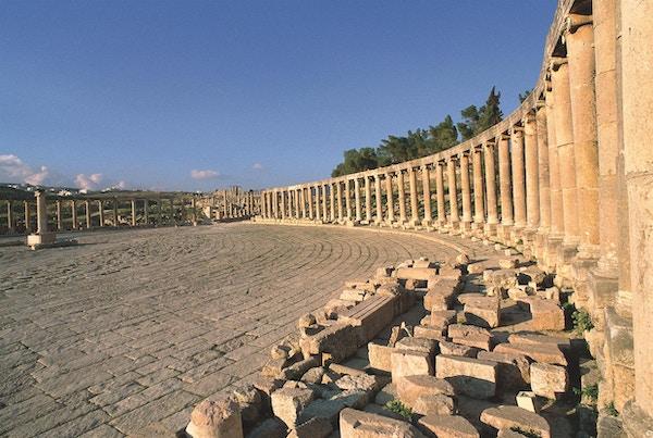 Kulturminner i Jerash i Jordan.