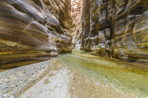 Wadi Mujib-kløften i Jordan.