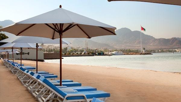 Strand i Aqaba, Jordan.