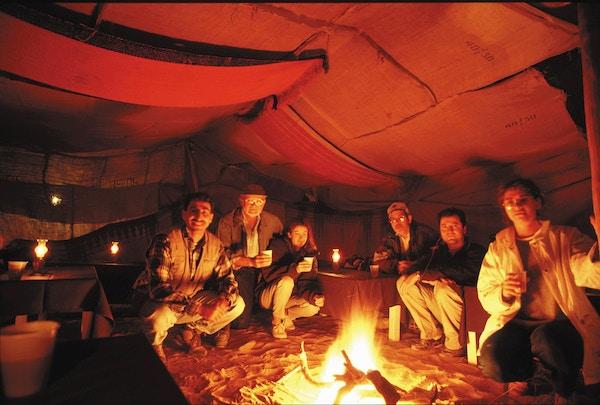 Bål i Wadi Rum, Jordan.