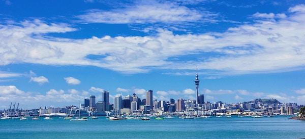 Auckland er en livlig havneby