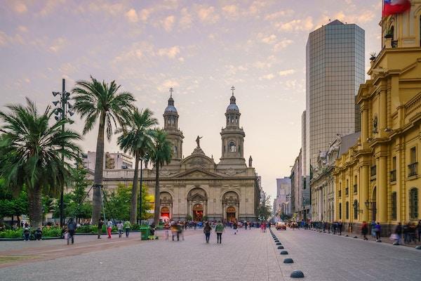 Sentrum i Santiago de Chile, Chile.