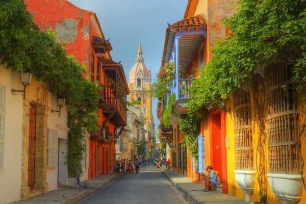 Katedralen i Cartagena, Colombia.