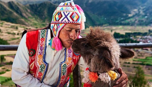 Indianer i Andesfjellene.
