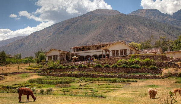 Typisk spansk Hacienda i den hellige dalen i Peru.