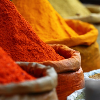 Krydder på markedet