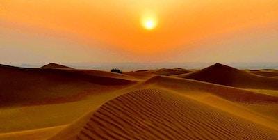 Solnedgang i ørkenen, det fins ikke mye som er vakrere.