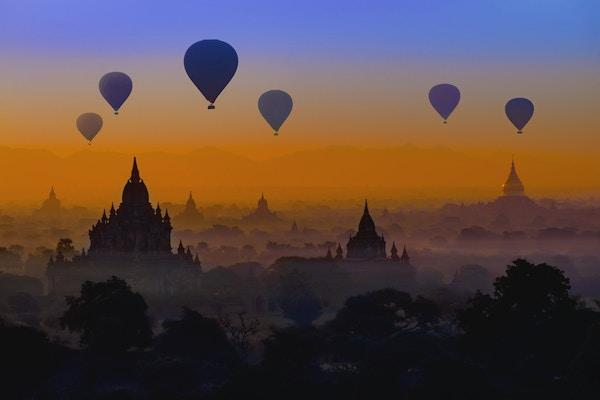 Bagan solnedgang