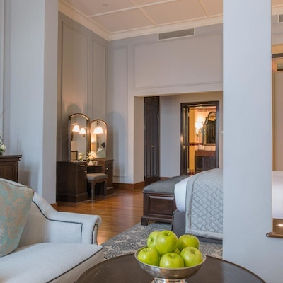 The Strand Hotel Deluxe Suite Living area 1920x848
