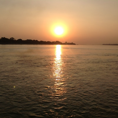 Solnedgang irrawaddy