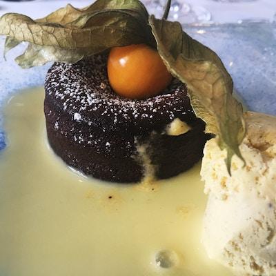 Dessert på elvecruise