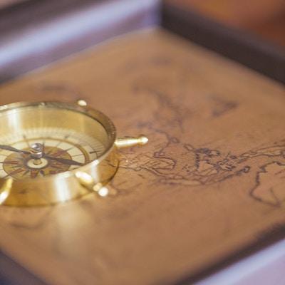 Kompass, detalj på Mekong Navigator