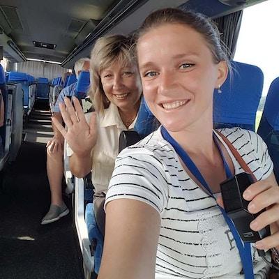 Smilende mennesker i Hviterussland.