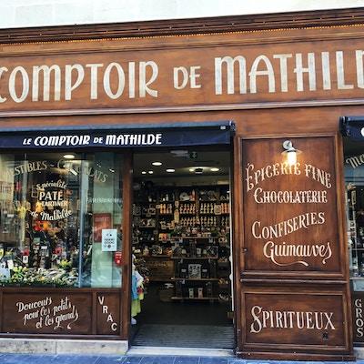 Butikkfasade i gågata i Bordeaux