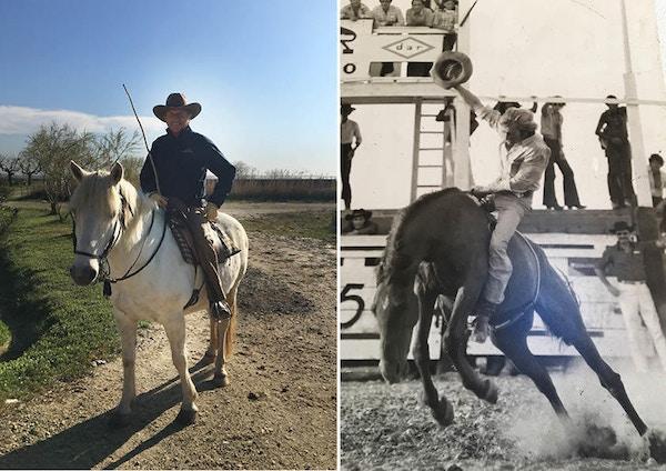 Cowboy i Camargue, på 70-tallet og nå.