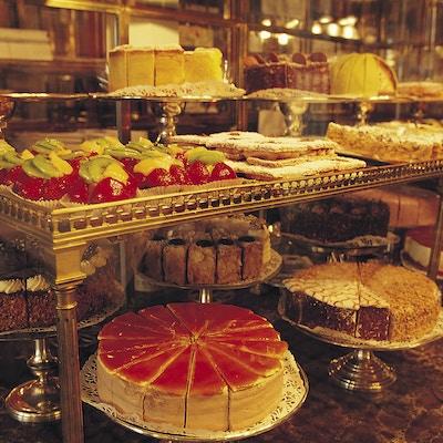 Kakebord på wienerkafé