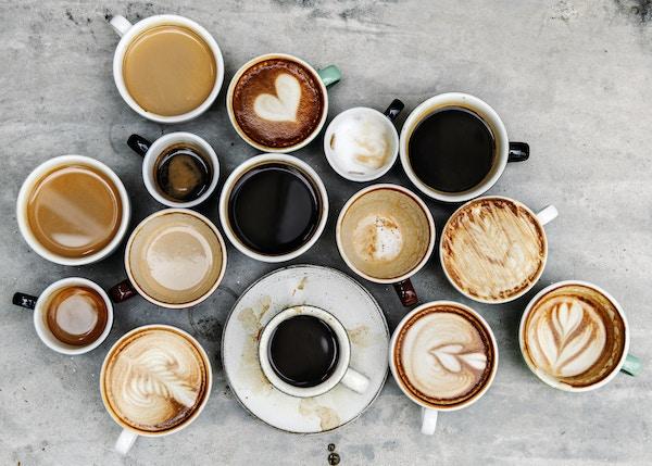 Mange sorter kaffe.