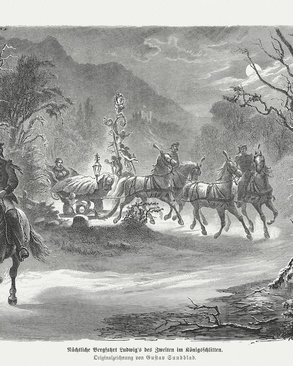 Kong Ludwig av Bayern, sledetur