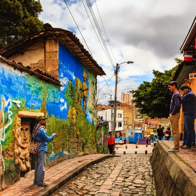 Gate kunst i Bogota