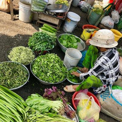Grønnsaker på marked